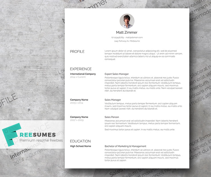 Spick and Span \u2013 A Clean Resume Template Freebie - Freesumes