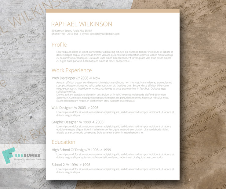 Crafty and Casual \u2013 A Smart Resume Template for Free - Freesumes