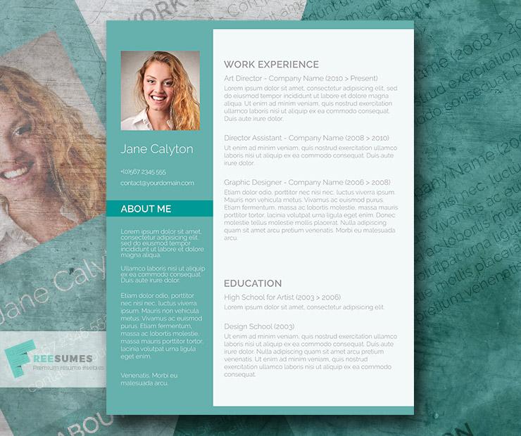 Classy Emerald \u2013 A Fancy Word Resume Template Freebie - Freesumes