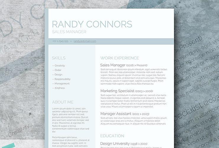 Free Modern Resume Templates - modern resume layout