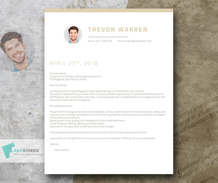 How To Write A Killer Cover Letter + Example + Free Template - Freesumes - excellent cover letter template