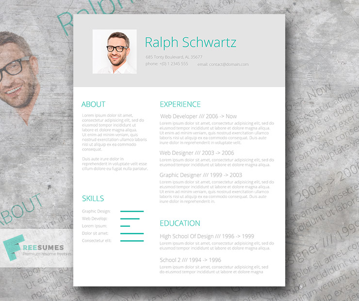 Minimalistic Green \u2013 A Simplified Resume Template Giveaway - Freesumes - Resume Design