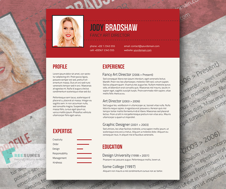 free resume fancy black templates