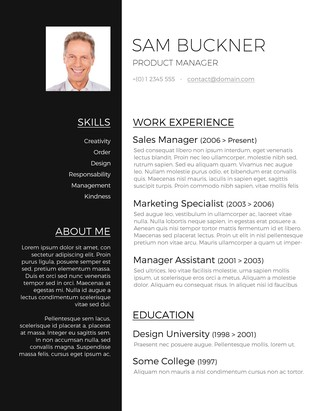free resume template for word - Ozilalmanoof - Resume With Photo Template