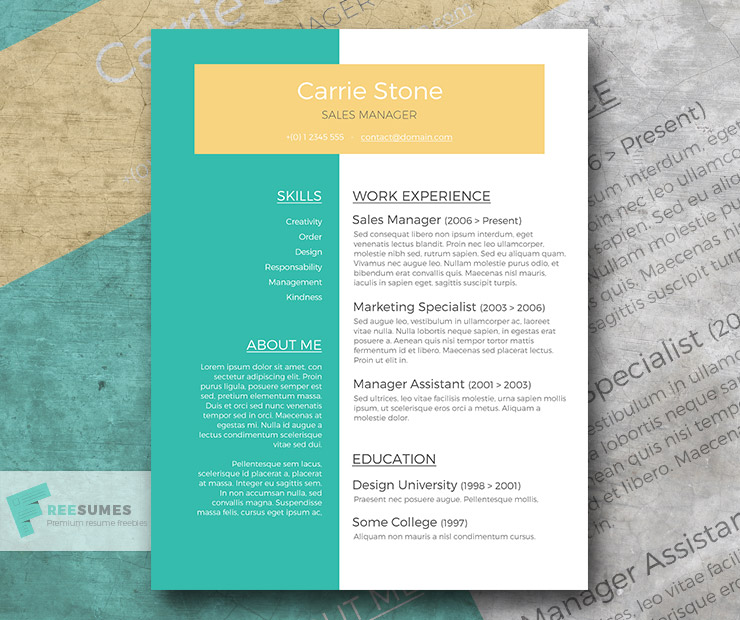 Perspective \u2013 Conceptual Resume Template Giveaway - Freesumes - Resume Layout