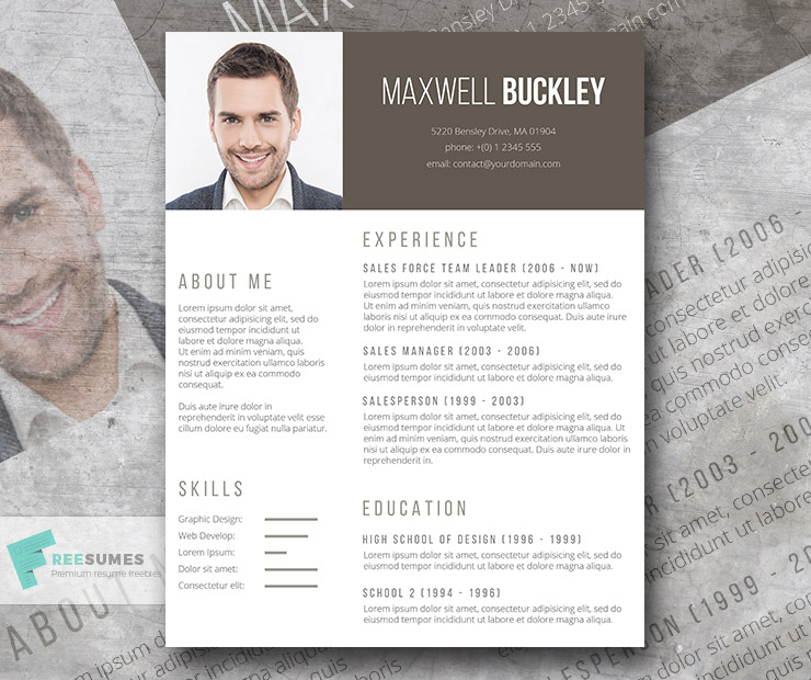The Headline \u2013 A Modern and Unique Resume Template Freebie - Freesumes