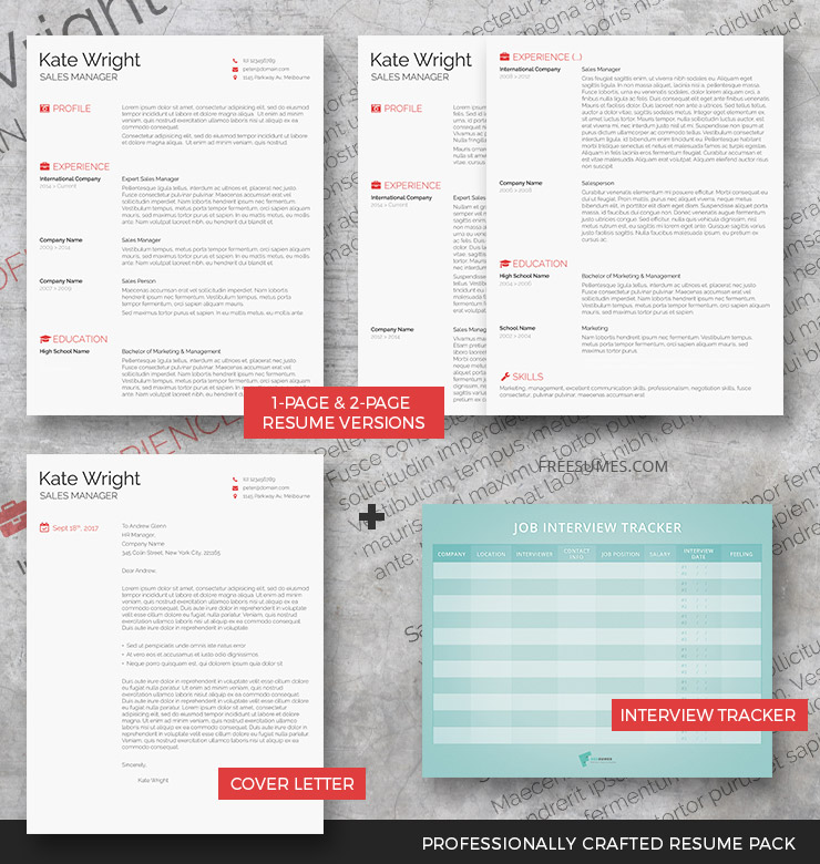 The Minimalist - Complete Resume Pack - Freesumes