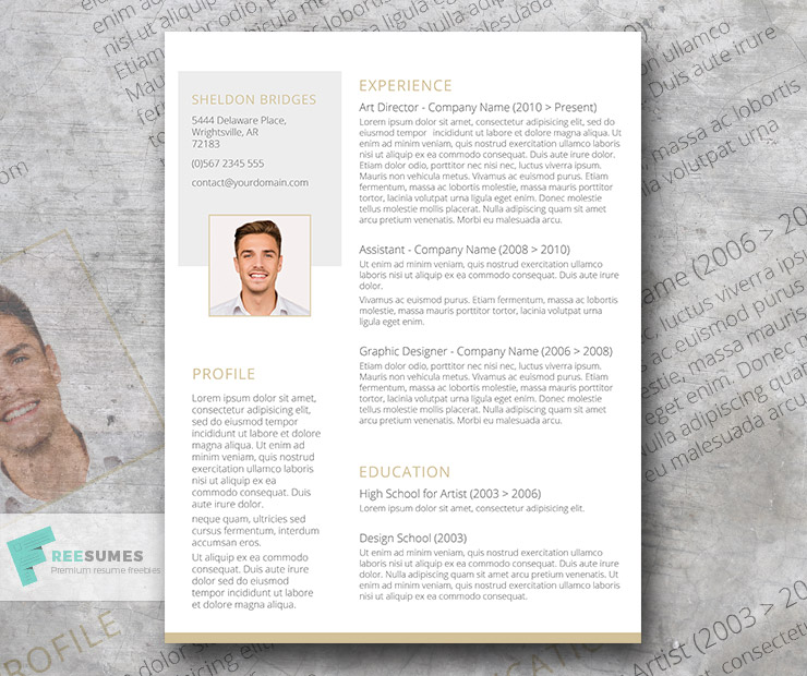 Clean and Classy \u2013 A Free and Elegant Resume Design - Freesumes - free resume designs
