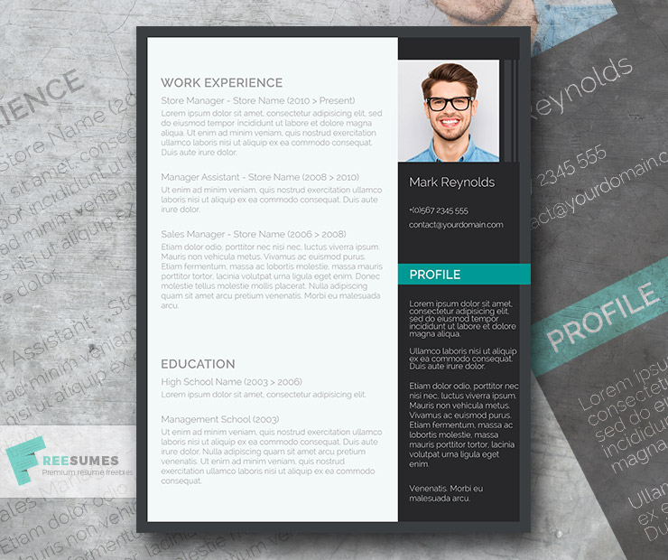 The Modern Professional \u2013 A Free Ultra-Creative CV Template - Freesumes