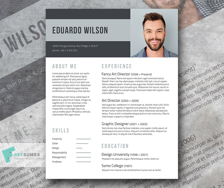 Bold Statement A Free Elegant Resume Template - Freesumes