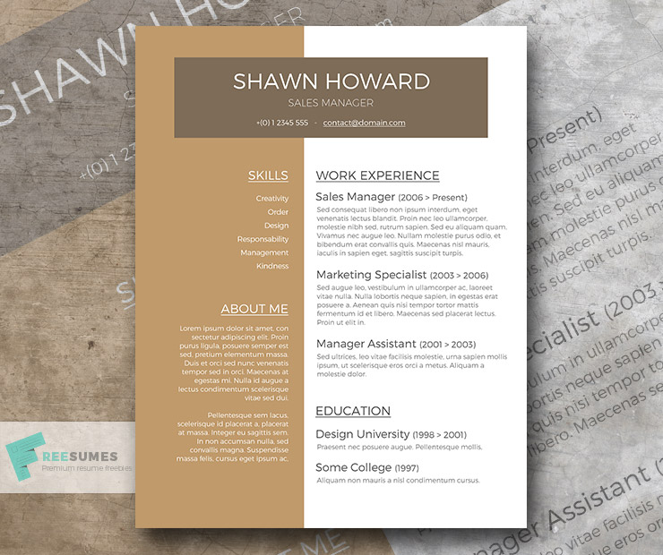 Café au Lait A Free Resume Template with a Creative Touch - Freesumes - resume template australia free