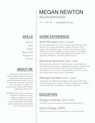 clean resume template word - Ozilalmanoof - clean resume template