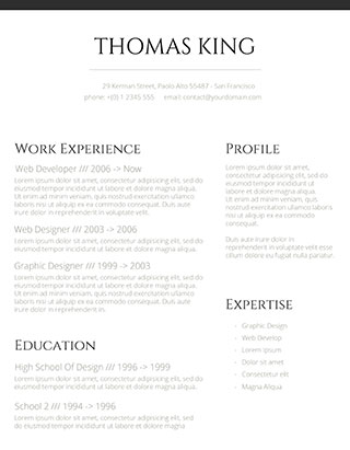 best modern clean resume design - Ozilalmanoof - clean resume template