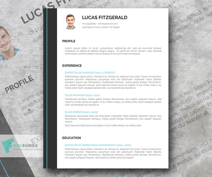 Free Perfect Resume Template for Go-Getters - Freesumes - the perfect resume template