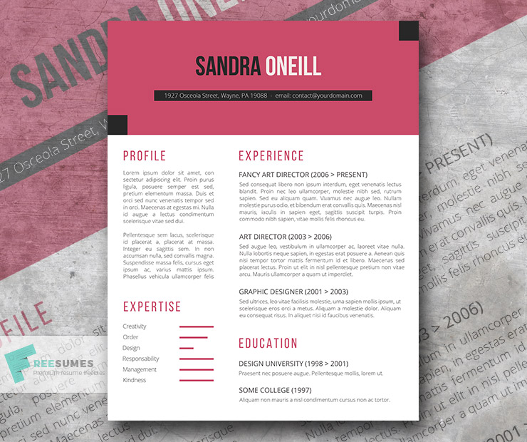 Spice Up Your Resume with Cabaret The Free Resume Template - Freesumes