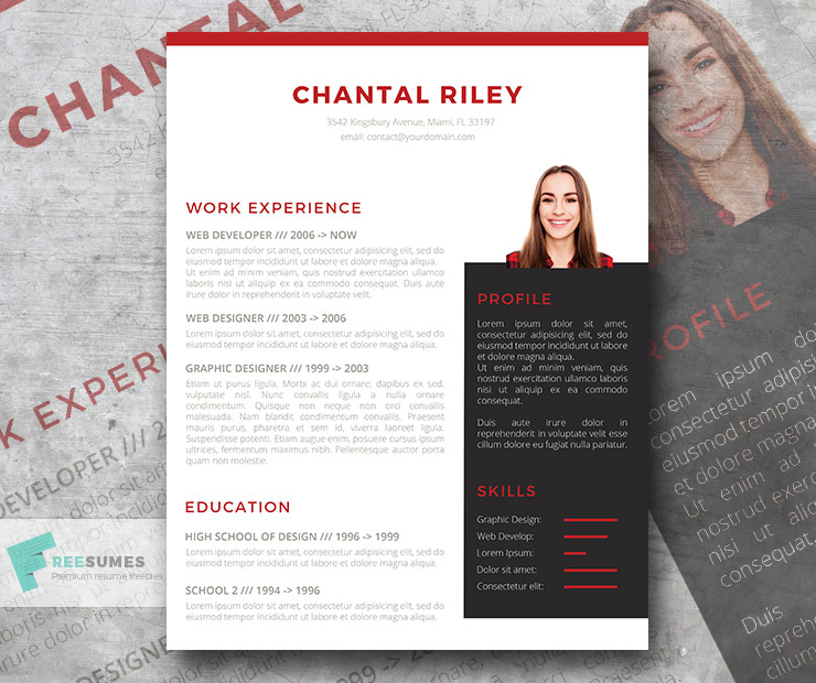 I Stand Out Resume Template Freebie - Freesumes