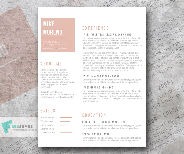 Rose Gold Resume The Free Template of The Week - Freesumes