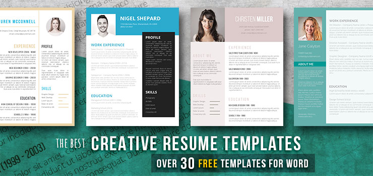 Creative Resume Templates Get The Job You Deserve! - Freesumes