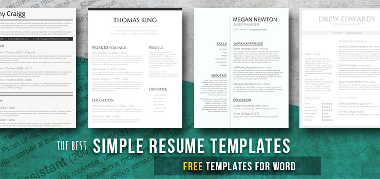 Classic Resume Templates Keep It Simple To Succeed - Freesumes