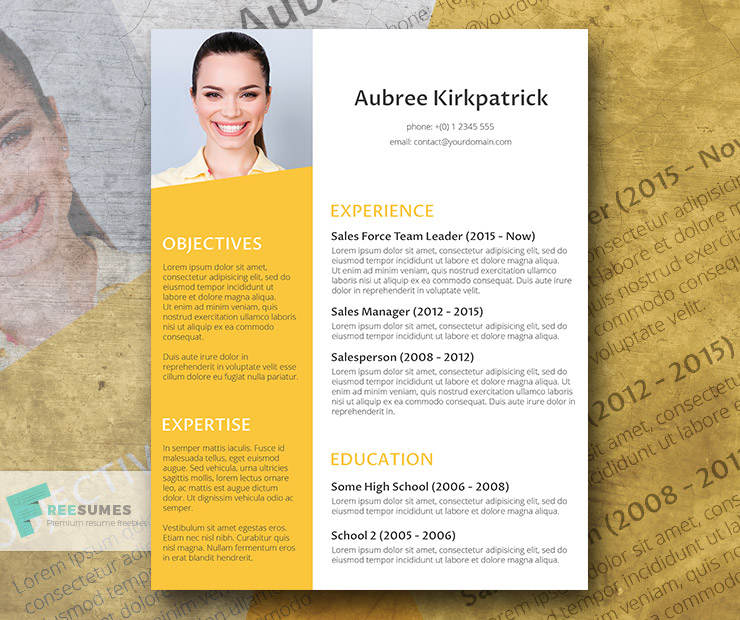 Sunny Afternoon - Free Creative Resume Design - Freesumes