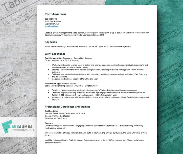 no college degree resume sample
