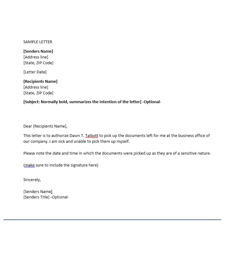 46 Free Authorization Letter Samples  Templates \u2013 Free Template - work authorization letter