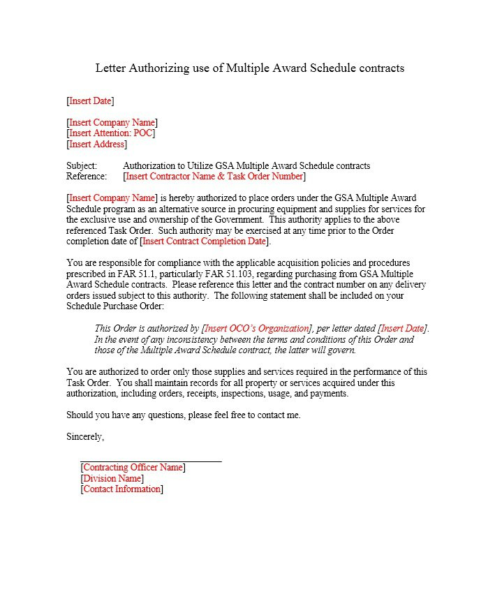 Authorization Letter Samples 46 Free Authorization Letter Samples And Templates – Free