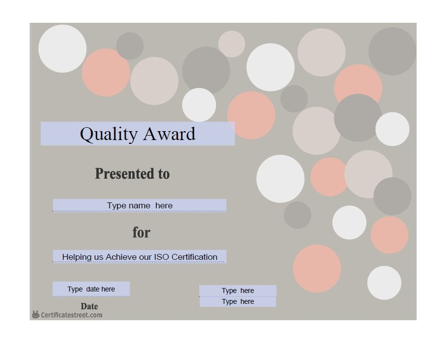 50 Free Amazing Award Certificate Templates \u2013 Free Template Downloads - Award Paper Template