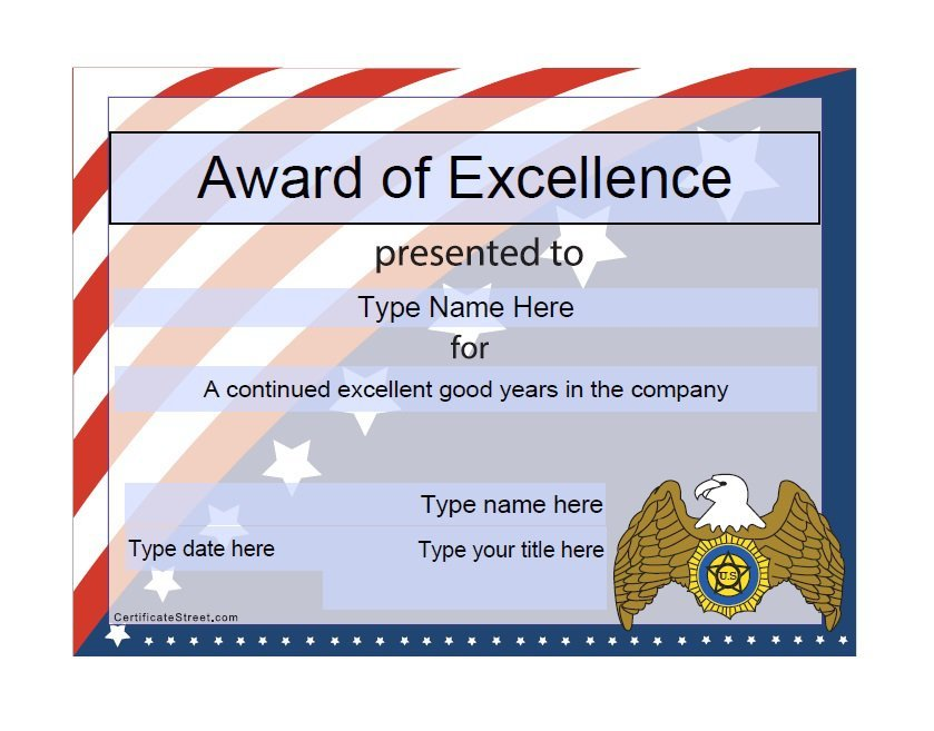 50 Free Amazing Award Certificate Templates - Free Template Downloads