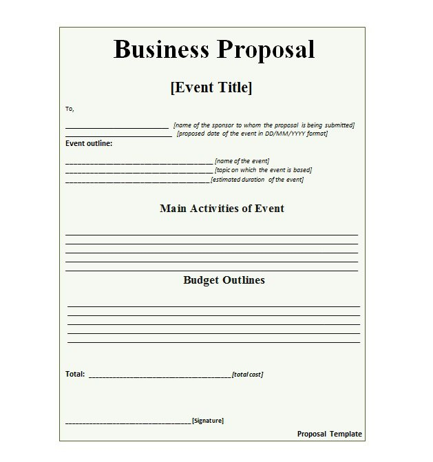 business proposal template word free - Militarybralicious - free proposal templates for word