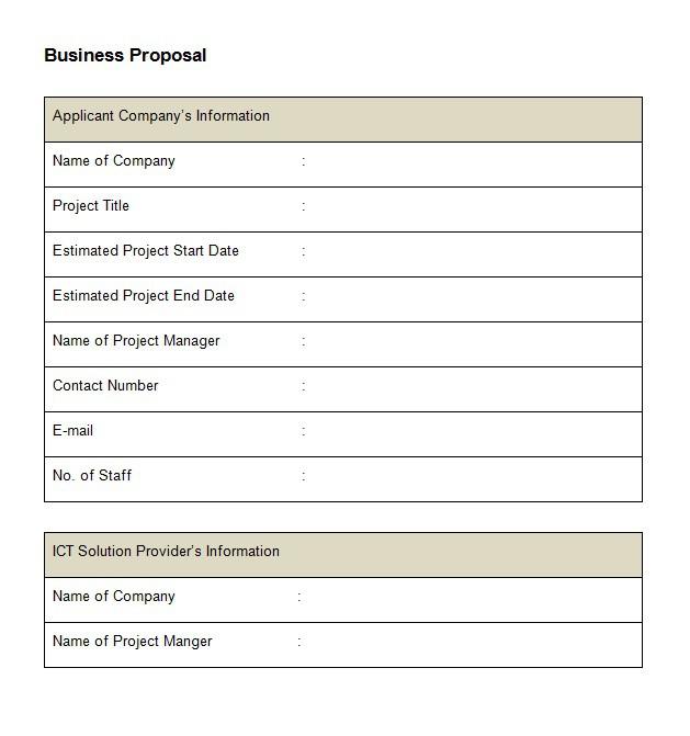 36 Free Business Proposal Templates  Proposal Letter Samples \u2013 Free - business proposal document template