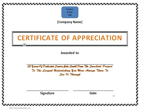 31 Free Certificate of Appreciation Templates and Letters - Free