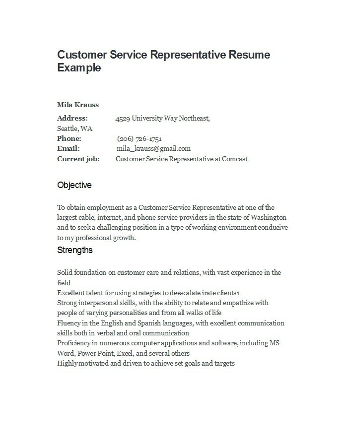 Examples Of Resume Customer Service | How To Write A Hospitality