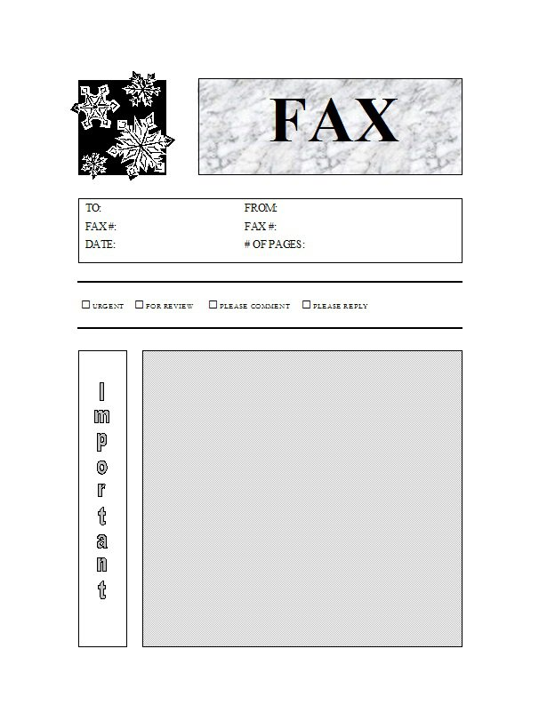 free downloads fax cover sheet
