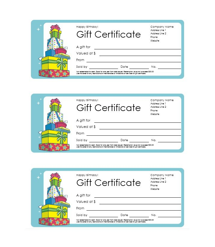 41 Free Gift Certificate Templates \u2013 Free Template Downloads - blank gift vouchers templates free
