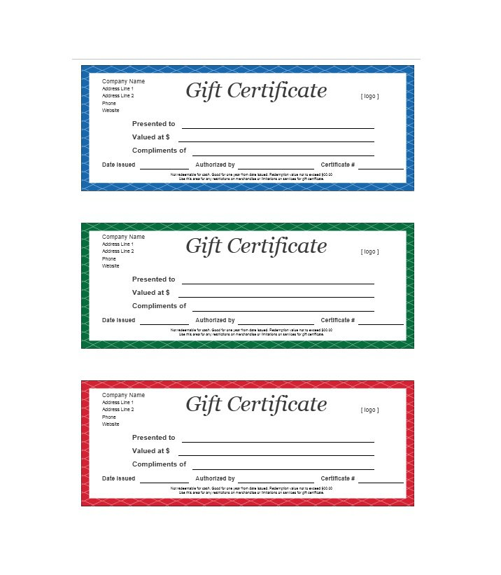 Company Gift Certificate Template Images - Template Design Ideas