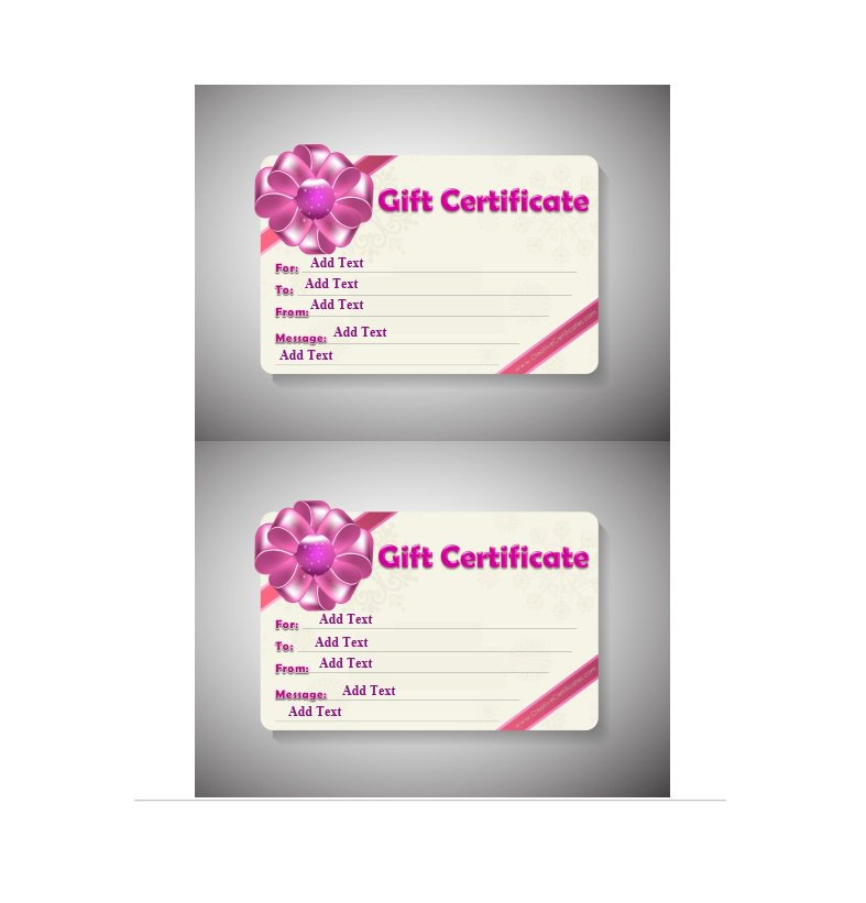 41 Free Gift Certificate Templates \u2013 Free Template Downloads - business gift certificate template free