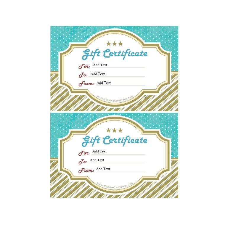 41 Free Gift Certificate Templates \u2013 Free Template Downloads - gift certificate templete