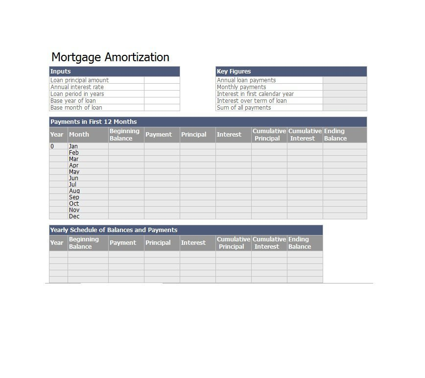28 Tables to Calculate Loan Amortization Schedule (Excel) \u2013 Free - calculate amortization payments