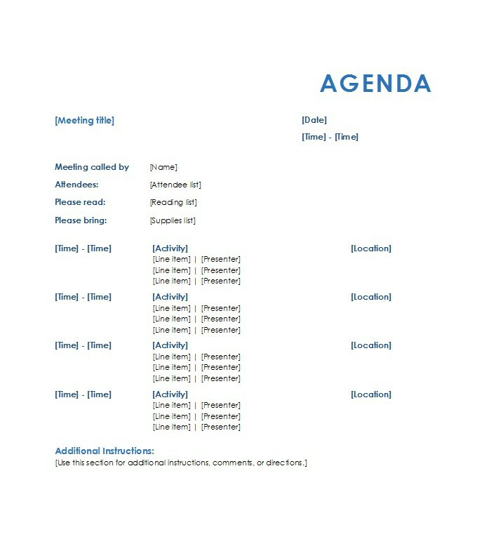 Agenda Outline Safety Meeting Agenda Templates Free Sample Example - meeting outline sample