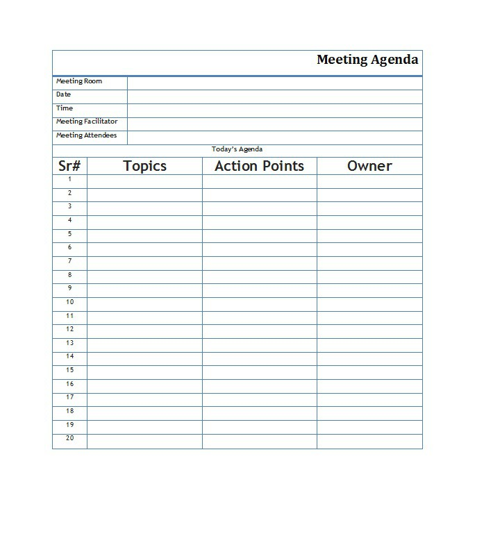 agenda samples for meetings - Roho4senses