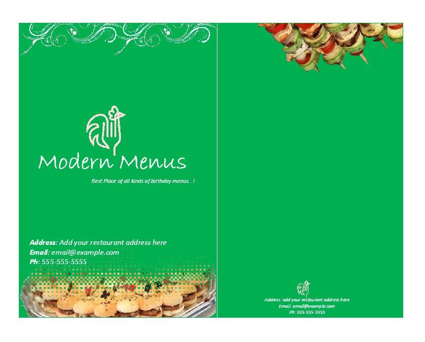 31 Free Restaurant Menu Templates  Designs \u2013 Free Template Downloads