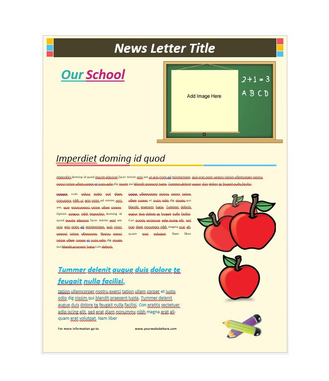 50 Free Newsletter Templates for Work, School and Classroom \u2013 Free - weekly newsletter template