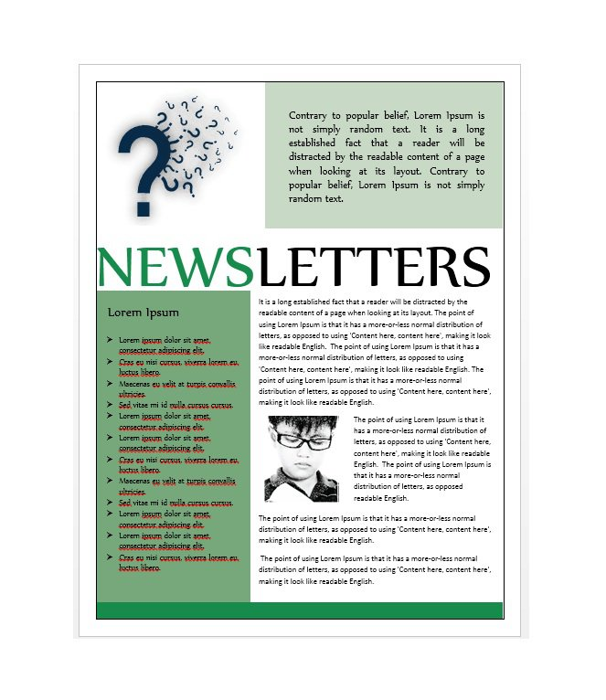 50 Free Newsletter Templates for Work, School and Classroom \u2013 Free - newsletter sample templates