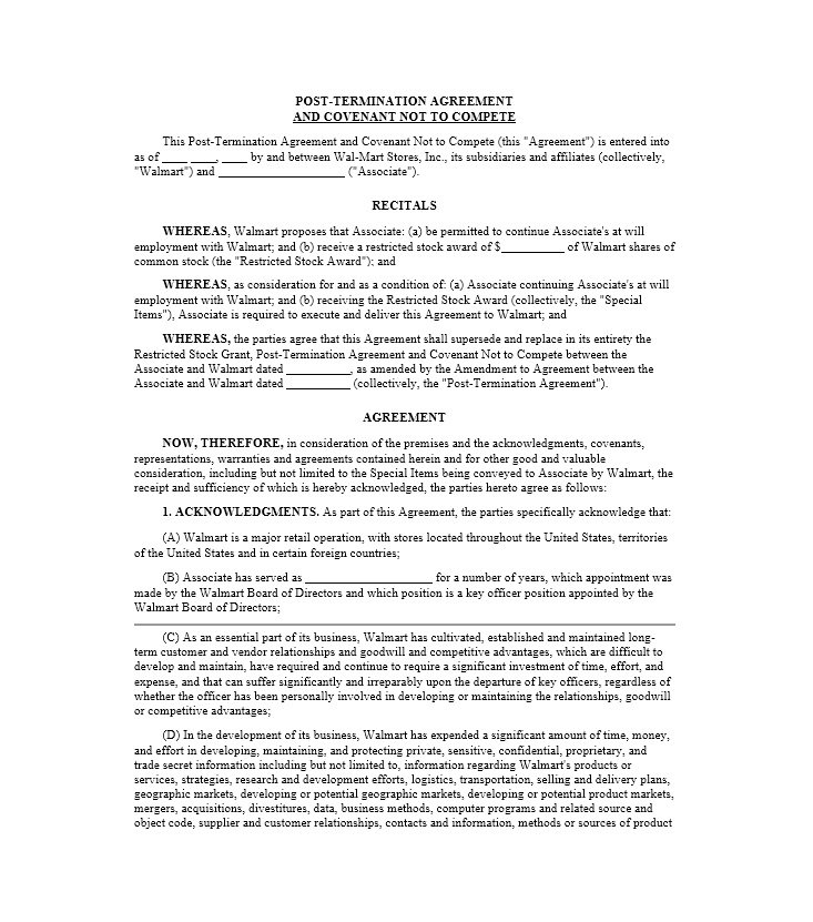 39 Ready-to-use Non-Compete Agreement Templates - Free Template