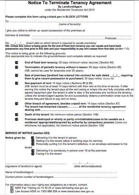 Lease Templates Download Free \ Premium Templates, FormsSample - lease termination form