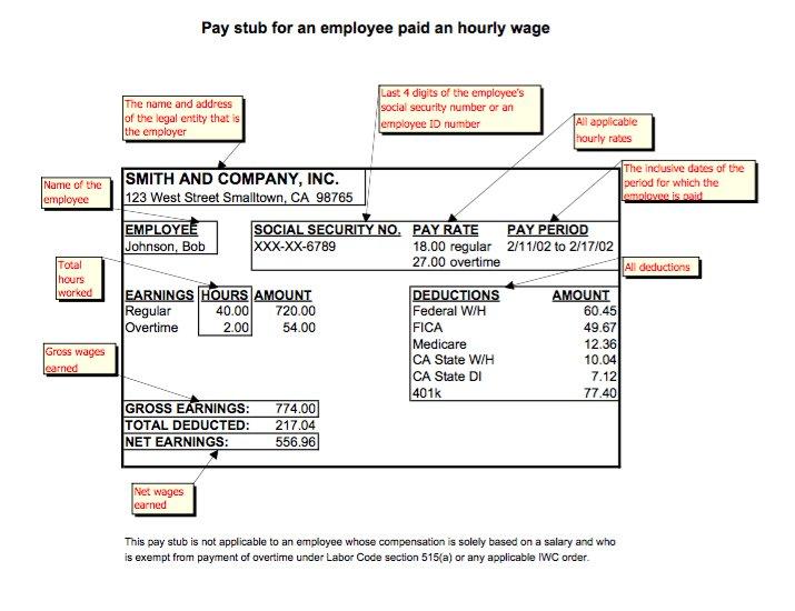 29 Great Pay Slip \/ Paycheck Stub Templates u2013 Free Template Downloads - payroll stub template free