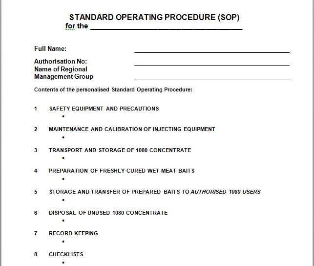 37 Best Free Standard Operating Procedure (SOP) Templates \u2013 Free - How To Write A Standard Operating Procedure