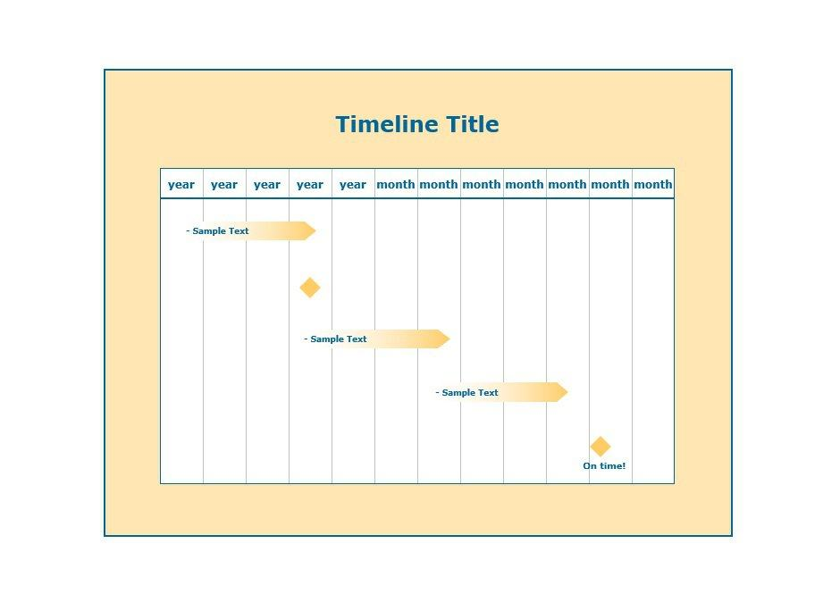 33 Free Timeline Templates (Excel, Power Point, Word) \u2013 Free - timeline word template