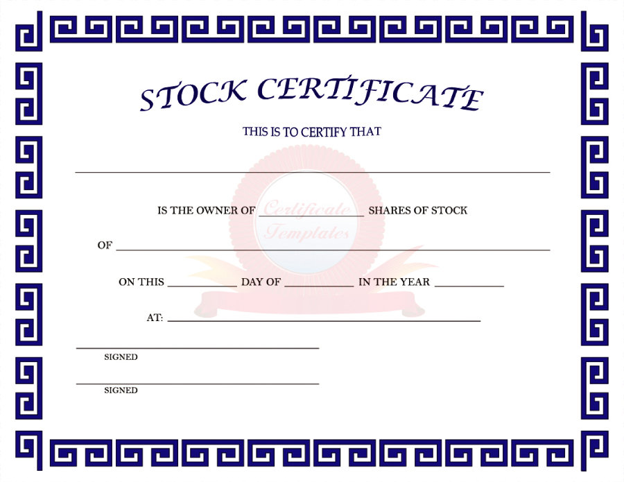 41 Free Stock Certificate Templates (Word, PDF) - Free Template